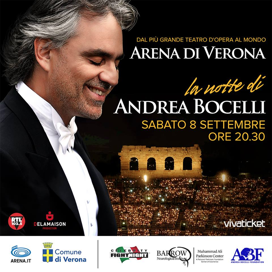 radio rentals service temporary wifi internet connection for Events. Andrea Bocelli Live Show