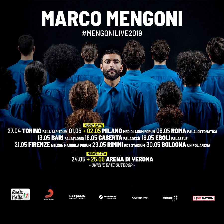 radio rentals service temporary wifi internet connection for Events. MARCO MENGONI Live show